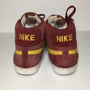 Nike Shoes - Nike burgundy yellow leather high top blazers